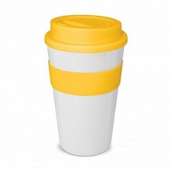 White - Yellow 480ml Express Reusable Coffee Cups