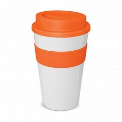 White - Orange 4 80ml Express Reusable Coffee Cups