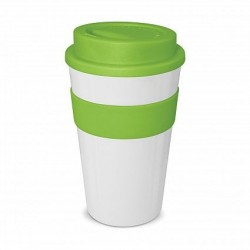 White - Lime 480ml Express Reusable Coffee Cups