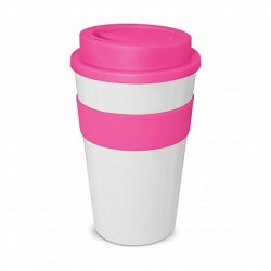 White - Pink 480ml Express Reusable Coffee Cups
