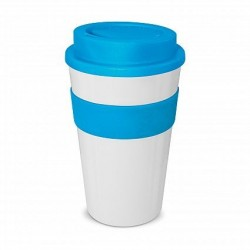 White - Light Blue 480ml Express Reusable Coffee Cups