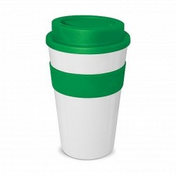 White - Dark Green 480ml Express Reusable Coffee Cups
