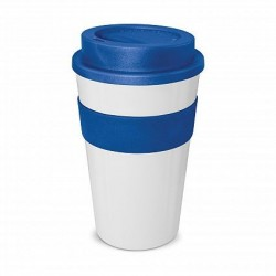 White - Dark Blue 480ml Express Reusable Coffee Cups