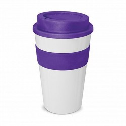 White - Purple 480ml Express Reusable Coffee Cups