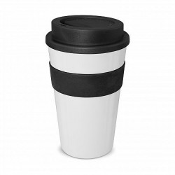 White - Black 480ml Express Reusable Coffee Cups