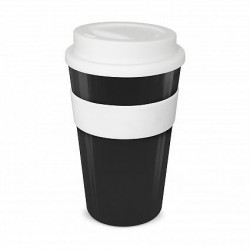 Black - White 480ml Express Reusable Coffee Cups