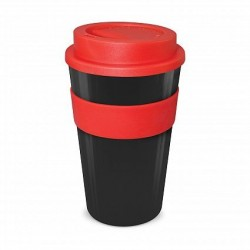 Black - Red 480ml Express Reusable Coffee Cups