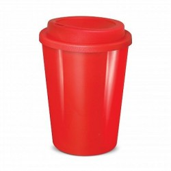 Red 350ml Cafe Style Reusable Eco Cups
