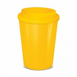 Yellow 350ml Cafe Style Reusable Eco Cups