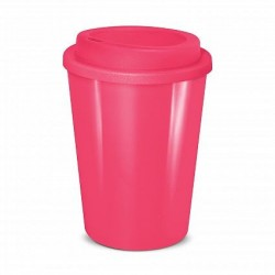Pink 350ml Cafe Style Reusable Eco Cups