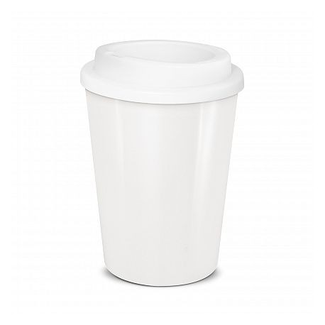 White 350ml Cafe Style Reusable Eco Cups