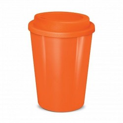 Orange 350ml Cafe Style Reusable Eco Cups