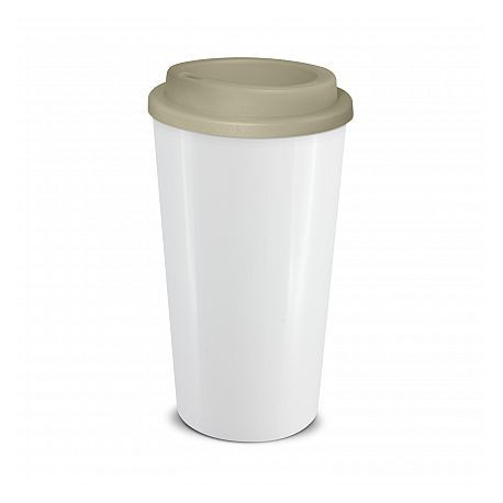 White Grey 480ml Grande Cafe Style Reusable Cups
