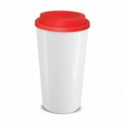 White  Red 480ml Grande Cafe Style Reusable Cups