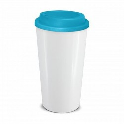 White Light Blue 480ml Grande Cafe Style Reusable Cups