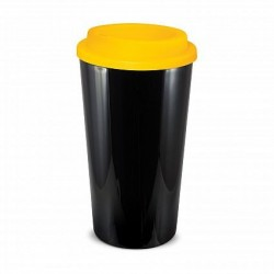 Black Yellow 480ml Grande Cafe Style Reusable Cups