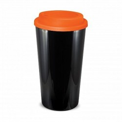 Black Orange 480ml Grande Cafe Style Reusable Cups