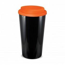 Black Orange 480ml Grande Cafe Style Reusable Cups