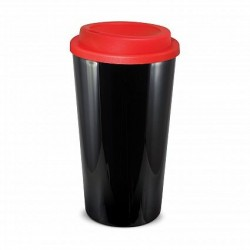 Black Red480ml Grande Cafe Style Reusable Cups