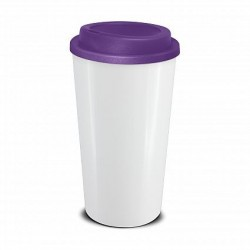 white purple 480ml grande cafe style reusable cups Reusable Coffee Cup Reusable Ml Express Cup Branded Promotional Reusable Coffee Cups