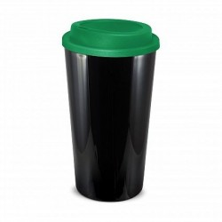 Black Dark Green 480ml Grande Cafe Style Reusable Cups