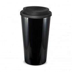 Black 480ml Grande Cafe Style Reusable Cups