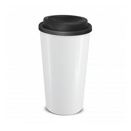 White Black 480ml Grande Cafe Style Reusable Cups