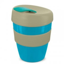 Light Blue Grey 350ml Deluxe Reusable Cups