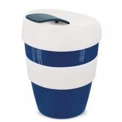 Navy White 350ml Deluxe Reusable Cups