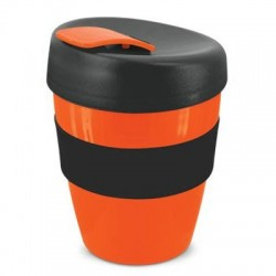 Orange Black 350ml Deluxe Reusable Cups