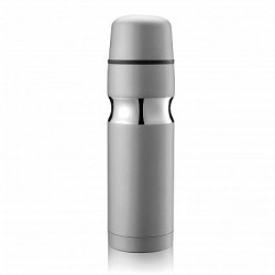 500ml White Contour Vacuum Flask
