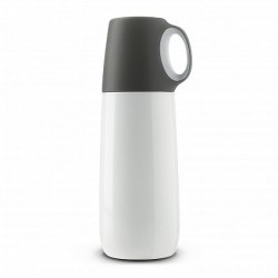 600ml White Bopp Hot Flask