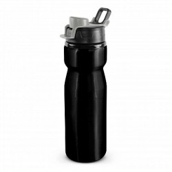 750ml Black Silver Viper Drink Bottle - Snap Cap