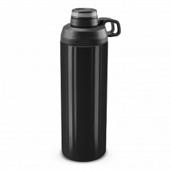 900ml Black Silver Primo Metal Drink Bottle