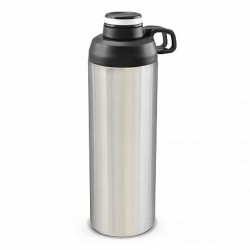 900ml Silver White Primo Metal Drink Bottle