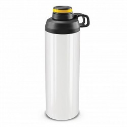 900ml White Yellow Primo Metal Drink Bottle