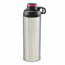 900ml Silver Pink Primo Metal Drink Bottle