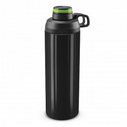 900ml Black Bright Green Primo Metal Drink Bottle