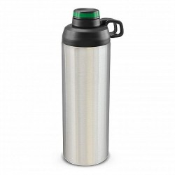 900ml Silver Dark Green Primo Metal Drink Bottle