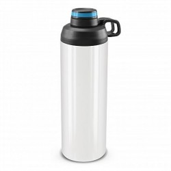 900ml White Bright Blue Primo Metal Drink Bottle