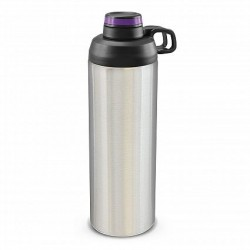900ml Silver Purple Primo Metal Drink Bottle