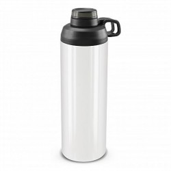 900ml White Black Primo Metal Drink Bottle